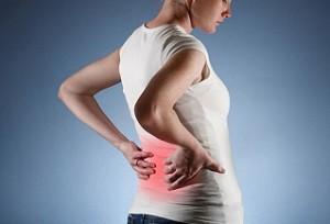 Болит точка в животе и на спине