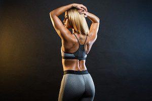 Красивая сильная спина у девушек
